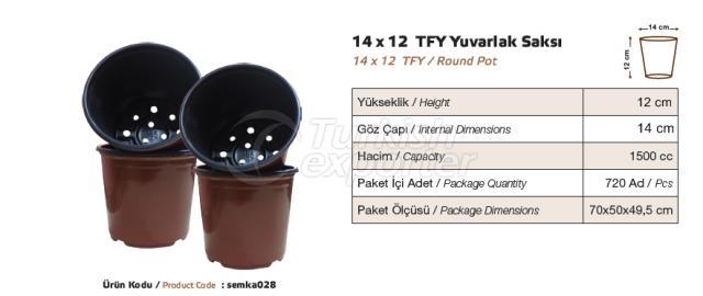 14x12 Round Pot