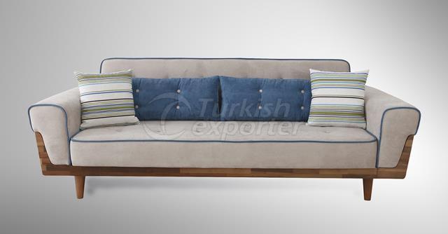 Conjunto de sofá retrô