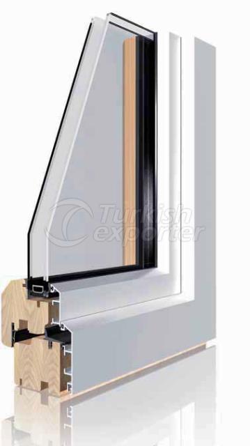 Ahşap Alüminyum Pencere ve Kapı Sistemleri -Standart