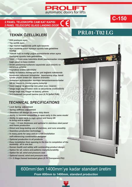 2PNL TLSCPC GLASS LANDING DOOR