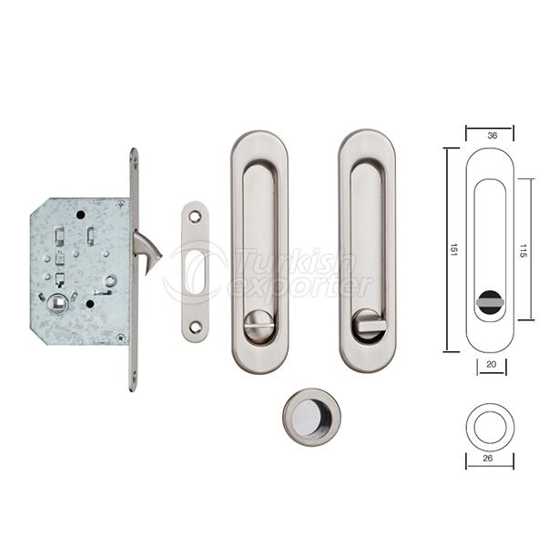 Handle With Mortise Lock S223 SN