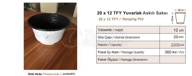 20x12  Round Pot