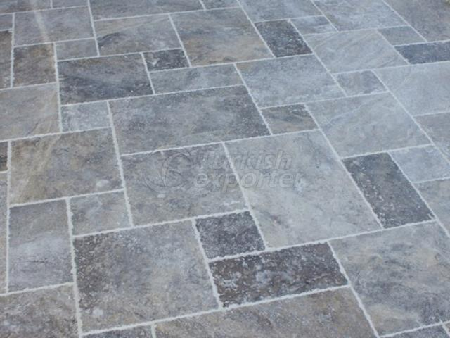 Tumbled Silver Travertine