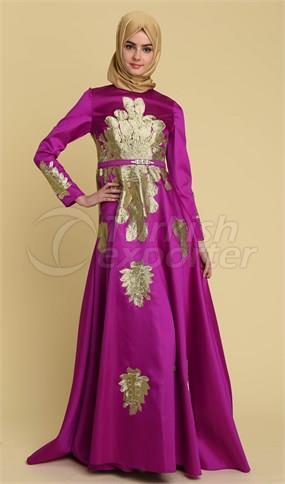 Vestido de noche 17Y1020 violeta