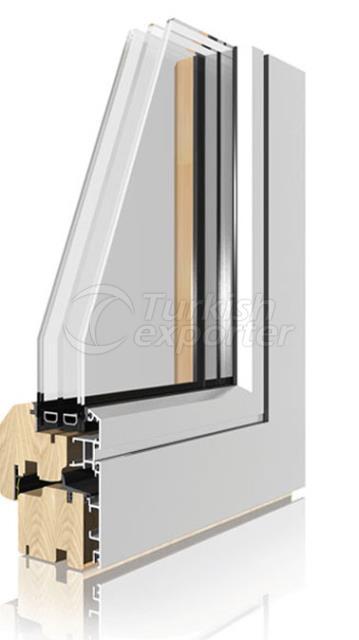Ahşap Alüminyum Pencere ve Kapı Sistemleri -Coplanar