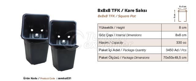 8x8x8 Square Pot