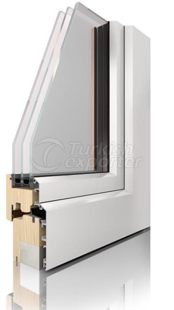 Ahşap Alüminyum Pencere ve Kapı Sistemleri -Comfort