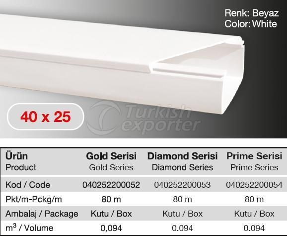 40x25 PVC  Cable Trunking