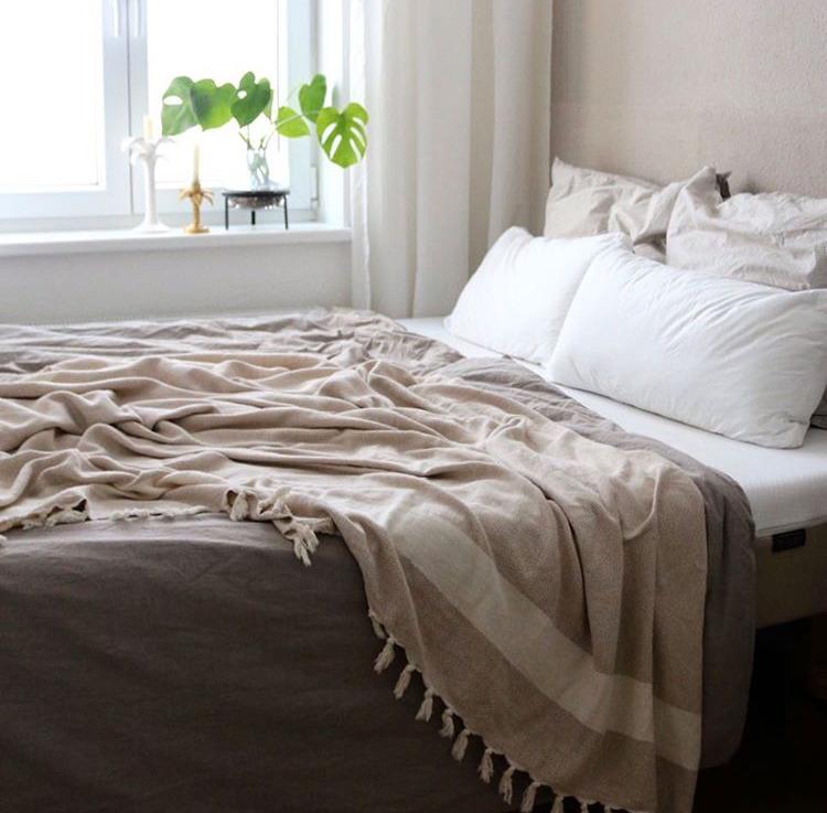 100% cotton throw blanket