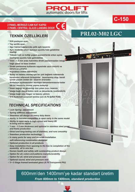 2PNL CENTRAL GLASS LANDING DOOR