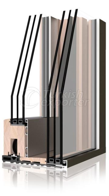 Ahşap Alüminyum Pencere ve Kapı Sistemleri -Hbsb