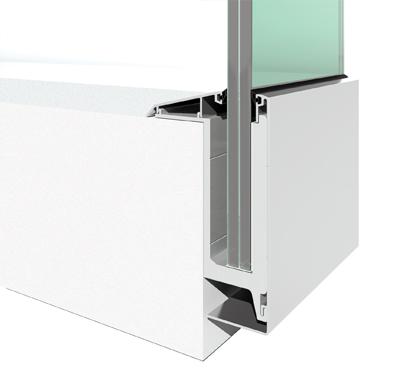 Glass Railing - Aluminium Frame - Toughened GLass