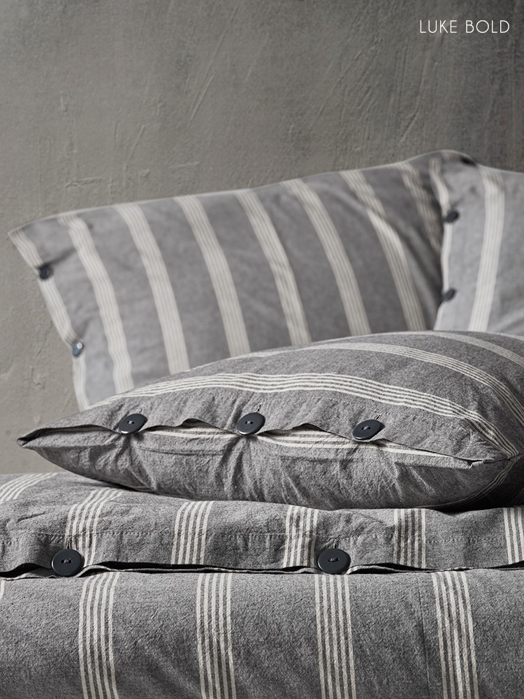 LINEN TEXTURED PREWASHED BEDDING SETS MADE FROM PURE COTTON