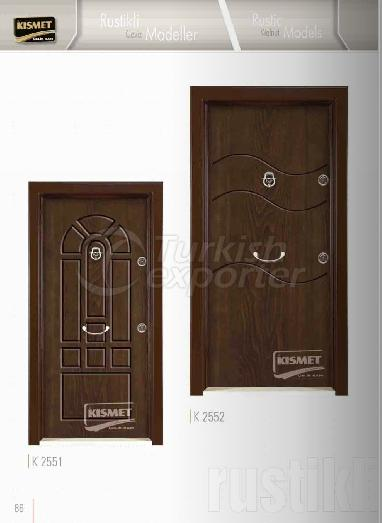 Rustik Ceviz Panel Kapı