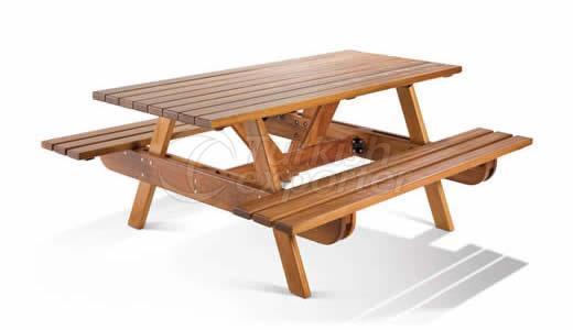 Mesa de jardín de madera BM003
