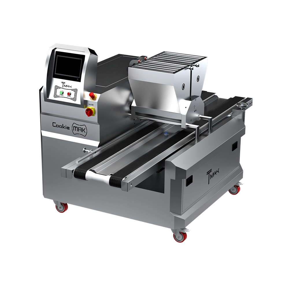 PairCookieMAK Double Coloured Non Filled Cookie Depositor Machine