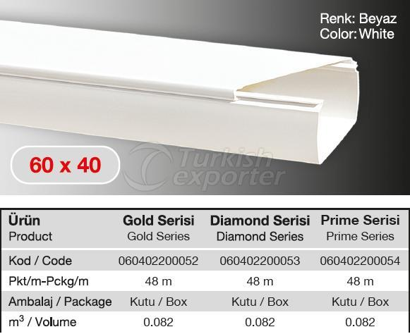 60x40 PVC  Cable Trunking