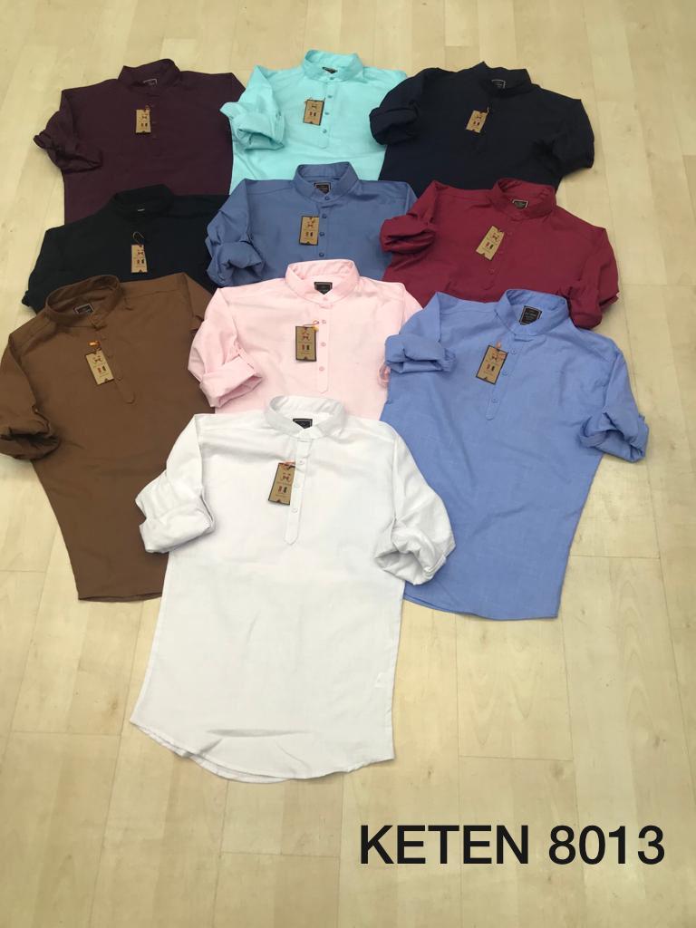 Slim Fit Men Shirt Plain with Lycra